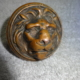 """Bronze figural knob produced by Branford Lock Works c.1885 When this style does come to market it almost always has the facial features worn away from usage ware. This knob is very sharp with no ware, this is an excellent example of the very few figural knobs made by Branford. Retains all of the original finish and in excellent condition. Takes a 5/16"""" passage size spindle."""