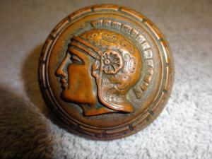 Antique Figural Warrior Doorknob