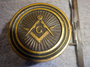 Original Antique Masonic Door Knob