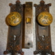 Antique Door lock set made by Chicago Lock Co.