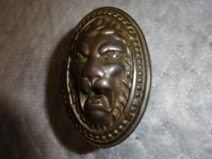 Antique Lion Entry Door Knob by P.F. Corbin