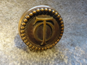 Original Doorknob to the Oliver Hotel