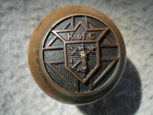 Original Knights of Columbus Doorknob