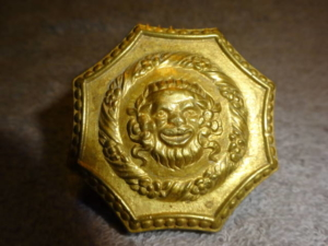 Antique Figural Octagon Doorknob