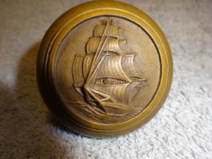 Original Figural Doorknob by Yale & Town