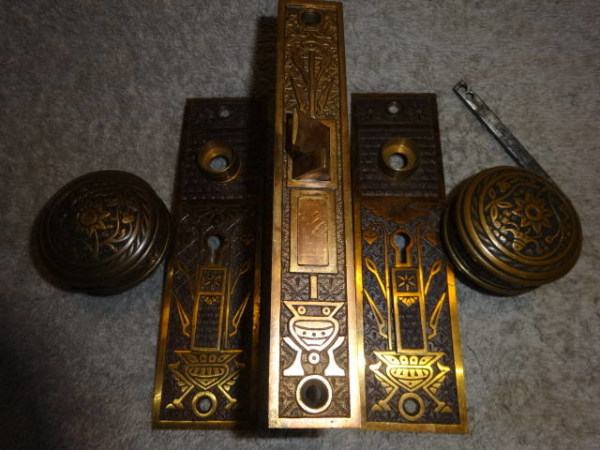 Antique Door Set by Norwalk Lock Co.