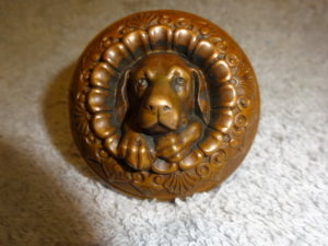 Antique Doggie Knob by Metallic Compression Casting Company Boston