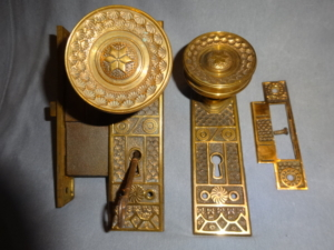 Antique Passage Door Set By The Ireland M.F.G. Co.