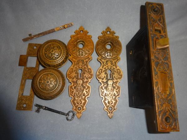 Antique Entry Door Set by Norwich Lock Co.