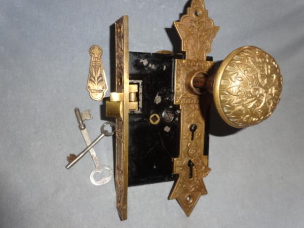 Antique Figural Door Set by Norwalk Lock Co.
