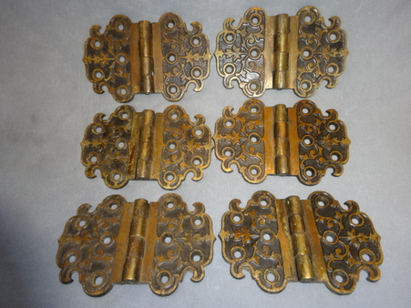 Antique Bronze Flush Mount Hinges