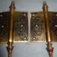 Antique Door hinges by Trenton Lock Co.