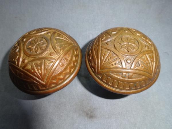Antique bronze Doorknobs by Barrows