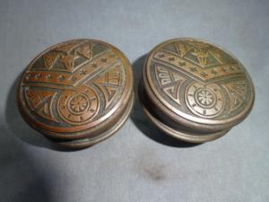 Antique Bronze Doorknobs by Norwich Lock Co.