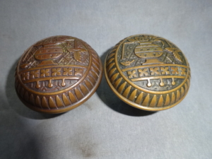 Antique Bronze Doorknobs by Lockwood