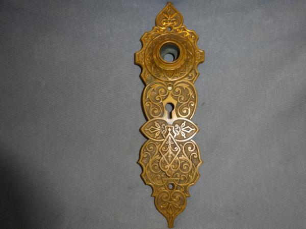 Antique bronze door plate
