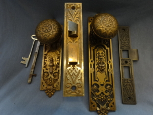 Antique Figural Entry Set by P. F. Corbin