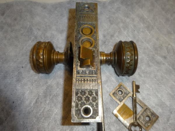 Original Entry Door lock Set by P.F. Corbin