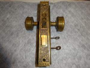 Antique Sargent Entry Lock-Set in Ekado Pattern