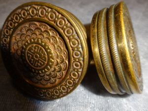 Antique Pair of Passage Door Knobs by Branford Lock Works