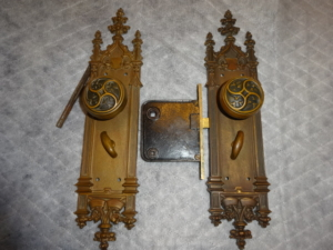 Antique Gothic Passage Lock Set