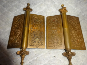 Antique Lion Hinges by Russell and Erwin