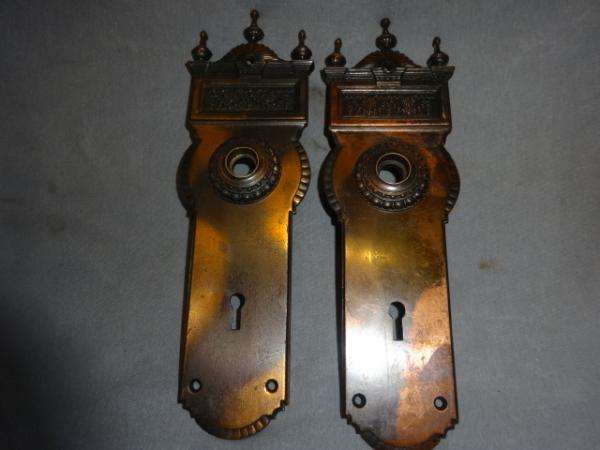 Antique Gothic Door Plates