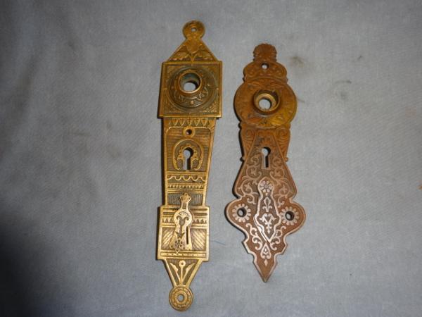 Original Victorian Door Plates