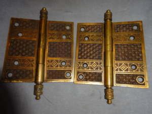 Antique Bronze Victorian Door Hinges