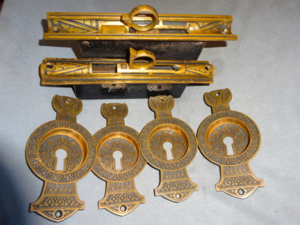 Antique Double Door Pocket Hardware