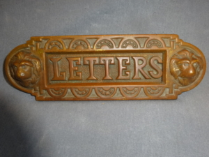 Antique brass letter slot