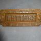 Antique brass letter slot