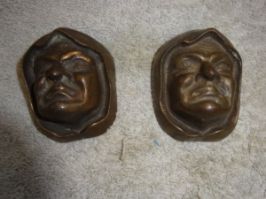 Antique Cast Bronze Monks
