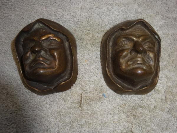 Antique Cast Bronze Monks