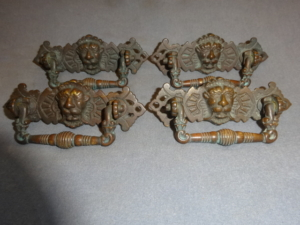 Antique Lion Head Dresser Handles