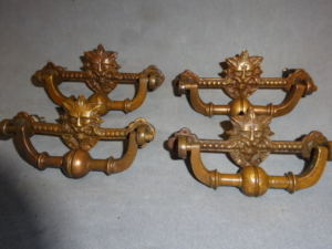 Antique Lion Head Furniture Handles