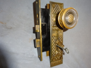 Antique Entry Door Set by Corbin