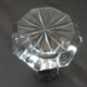 Antique Octagon Polished Cut Glass Knob