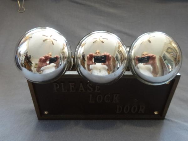 Original Mercury Glass Door Knobs