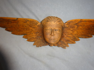 Antique Oak Angel