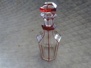 Antique Victorian Hand Cut Crystal Bottle