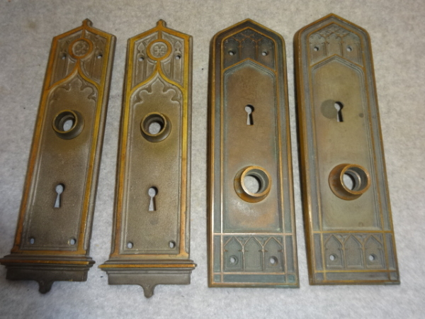 Antique Door Plates by P.F. Corbin and Penn Hardware
